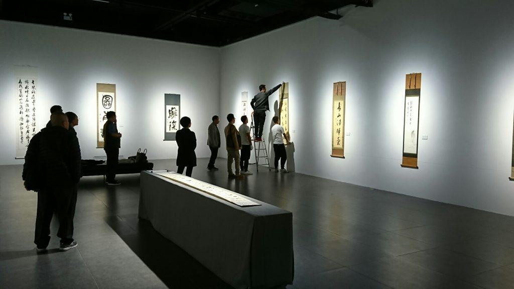 展覧会設営の様子