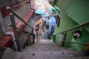 甘川文化村の細い通り
